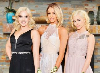 "Allie Nicole , Emma Hix , Kiara Cole in ""Prom 2019"""