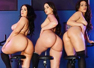 """Gia Paige, Kimber Woods, Violet Smith in """"The GYM 3: Big Butt Workout"""""""
