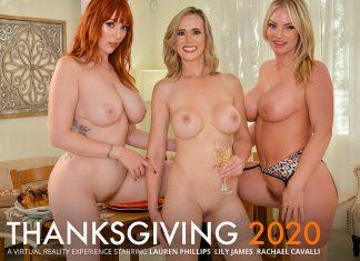 "Lauren Phillips, Lilly James, Rachael Cavalli in ""THANKSGIVING 2020"""