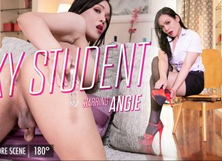 Angie In Sexy Student Angie!