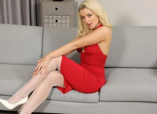 Grace Lily – Red Dress and Pantyhose