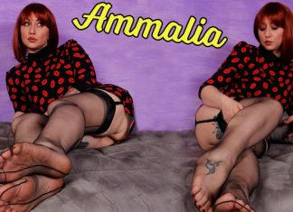 Sexy Redhead Ammalia Teases You With Her Stunning Feet